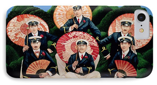 Sailors With Umbrellas IPhone Case by Anthony Southcombe