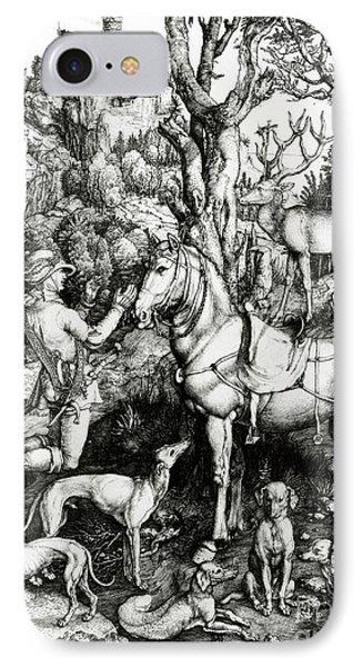 Saint Eustace IPhone Case by Albrecht Durer or Duerer