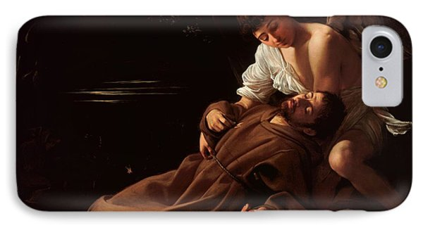 Saint Francis Of Assisi In Ecstasy 2 IPhone Case by Caravaggio