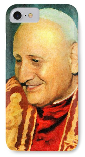 Saint John Xxiii IPhone Case by Lianne Schneider