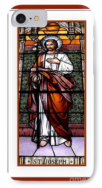 Saint Joseph  Stained Glass Window Phone Case by Rose Santuci-Sofranko