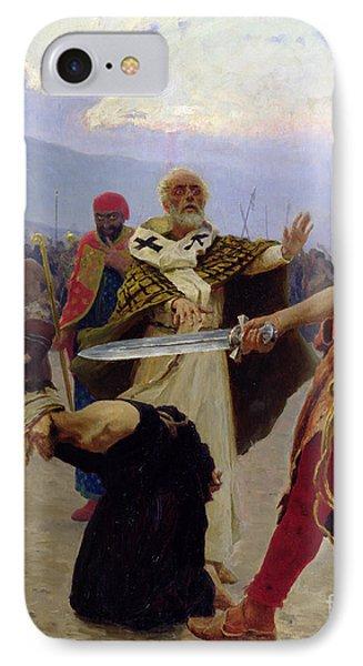 Saint Nicholas Of Myra Saves Three Innocents From Death Phone Case by Ilya Efimovich Repin