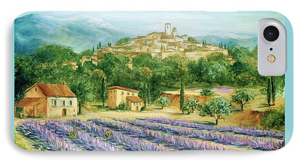 Saint Paul De Vence And Lavender IPhone Case by Marilyn Dunlap