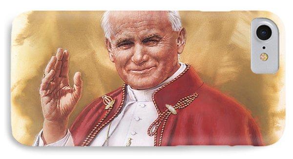 Saint Pope John Paul II IPhone Case by Dick Bobnick