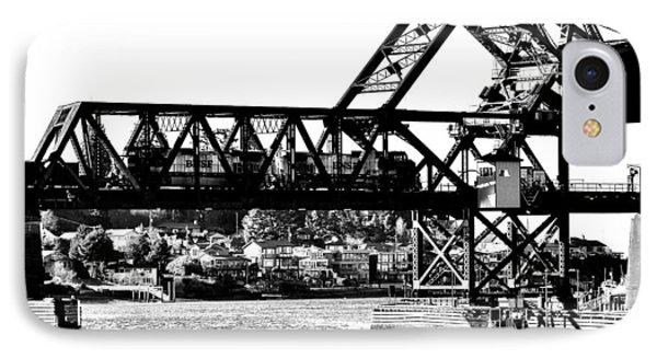 Salmon Bay Bridge Phone Case by Benjamin Yeager