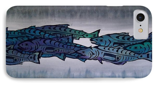 Salmon Passing Phone Case by Carolyn Doe