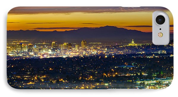 Salt Lake City At Dusk IPhone 7 Case by James Udall