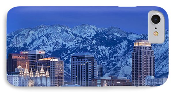 Salt Lake City Skyline Phone Case by Brian Jannsen