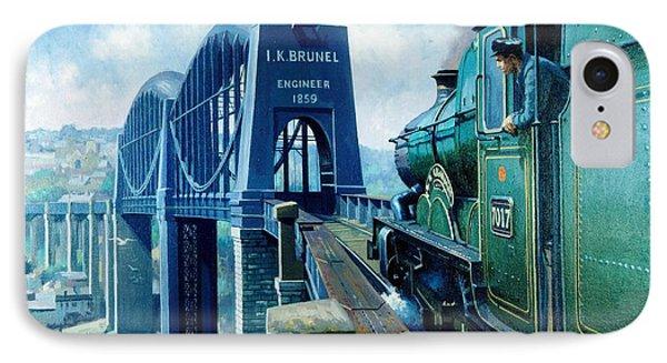 Saltash Bridge. IPhone Case by Mike  Jeffries