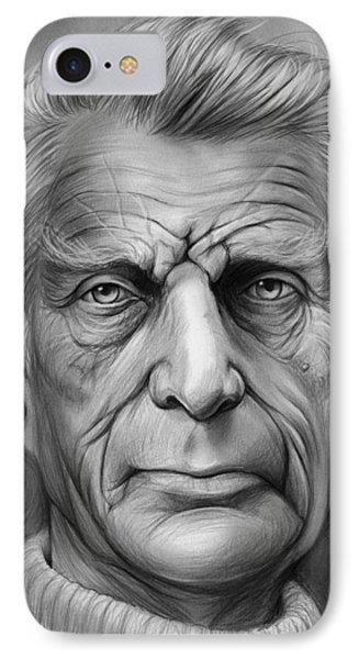Samuel Beckett IPhone Case by Greg Joens