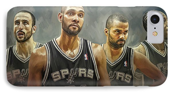 San Antonio Spurs Artwork IPhone Case by Sheraz A