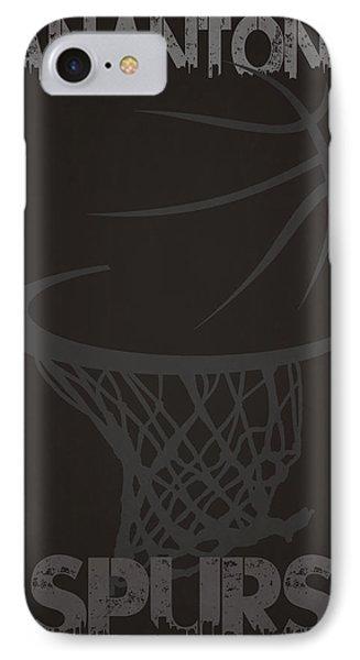 San Antonio Spurs Hoop IPhone Case by Joe Hamilton