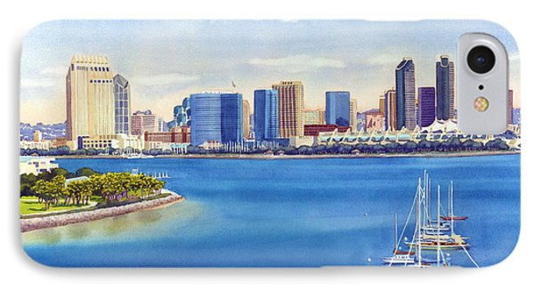San Diego Skyline With Meridien IPhone 7 Case by Mary Helmreich