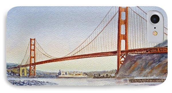 San Francisco California Golden Gate Bridge Phone Case by Irina Sztukowski