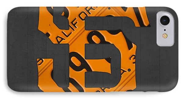 San Francisco Giants Baseball Vintage Logo License Plate Art IPhone Case by Design Turnpike