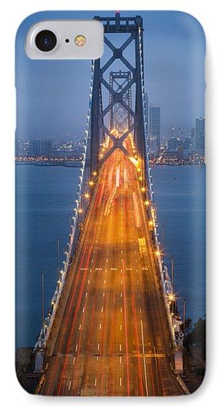 San Francisco - Oakland Bay Bridge IPhone Case by Adam Romanowicz