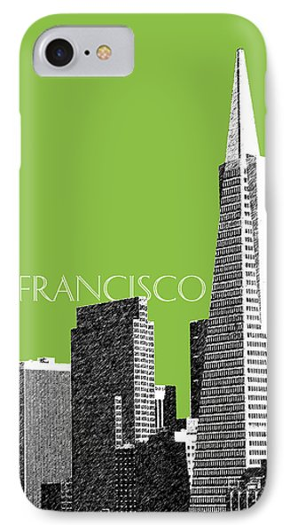 San Francisco Skyline Transamerica Pyramid Building - Olive Phone Case by DB Artist