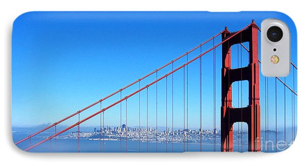 San Francisco - The City With The Golden Gate IPhone Case by Pete Edmunds