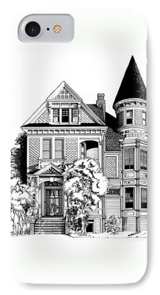 San Francisco Victorian Phone Case by Mary Palmer