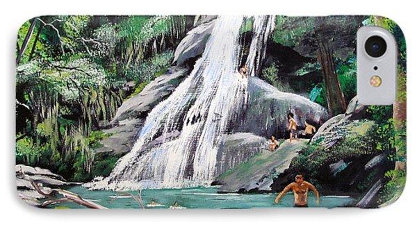 San Sebastian Waterfall Phone Case by Luis F Rodriguez