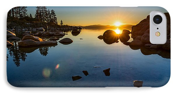 Sand Harbor Sunset IPhone Case by Jamie Pham