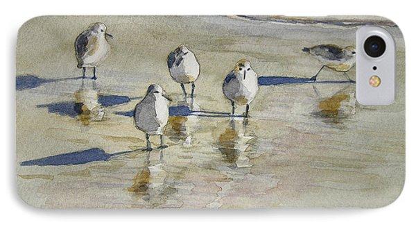 Sandpipers 2 Watercolor 5-13-12 Julianne Felton IPhone Case by Julianne Felton