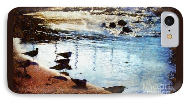 Sandpipers At The Shore IPhone Case by Janine Riley