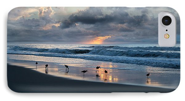 Sandpipers In Paradise IPhone Case by Betsy Knapp