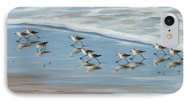 Sandpipers IPhone 7 Case by Tina Obrien
