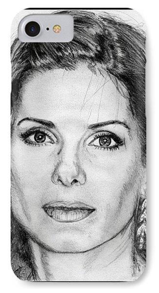 Sandra Bullock In 2005 Phone Case by J McCombie