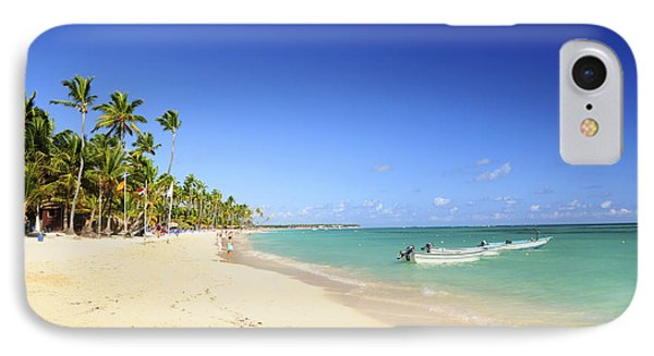 Sandy Beach On Caribbean Resort  IPhone Case by Elena Elisseeva