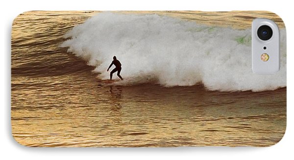 Santa Cruz Surfing At The Golden Hour IPhone Case by Artist and Photographer Laura Wrede