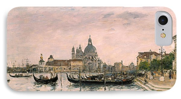 Santa Maria Della Salute And The Dogana IPhone Case by Eugene Louis Boudin