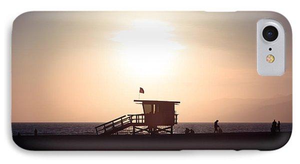 Santa Monica Lifeguard Stand Sunset Photo Phone Case by Paul Velgos