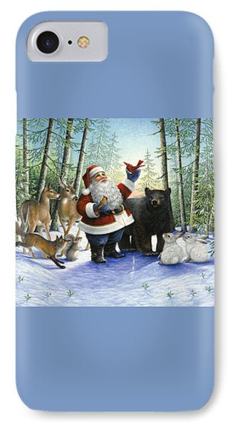 Santa's Christmas Morning IPhone Case by Lynn Bywaters