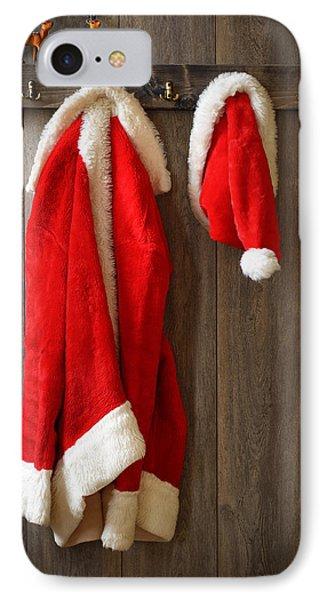 Santa's Coat IPhone Case by Amanda Elwell