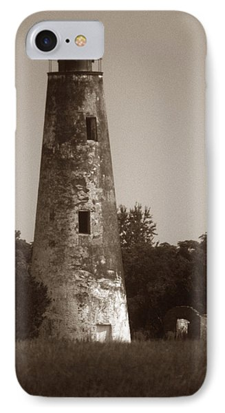 Sapelo Island Lighthouse Phone Case by Skip Willits