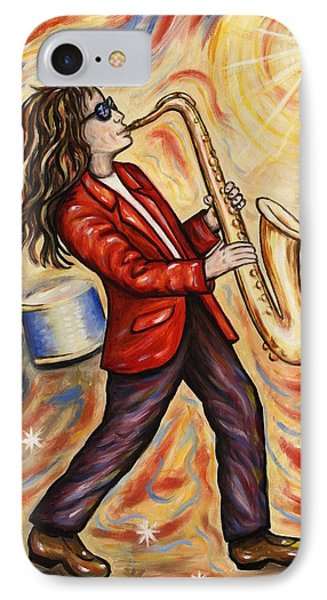 Sax Man Phone Case by Linda Mears