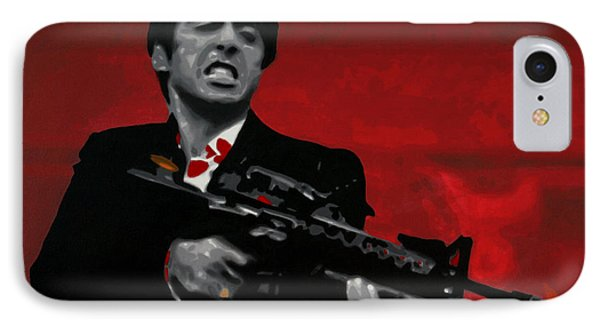 Say Hello To My Little Friend  IPhone 7 Case by Luis Ludzska