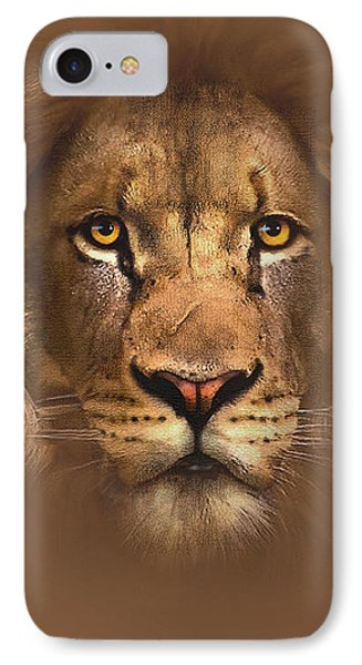 Scarface Lion IPhone Case by Robert Foster