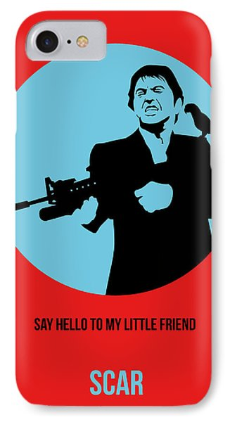 Scarface Poster 1 IPhone Case by Naxart Studio