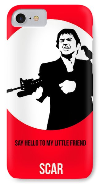 Scarface Poster 2 IPhone Case by Naxart Studio