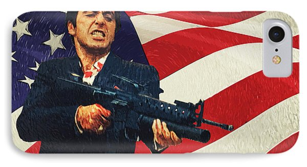 Scarface IPhone Case by Taylan Apukovska