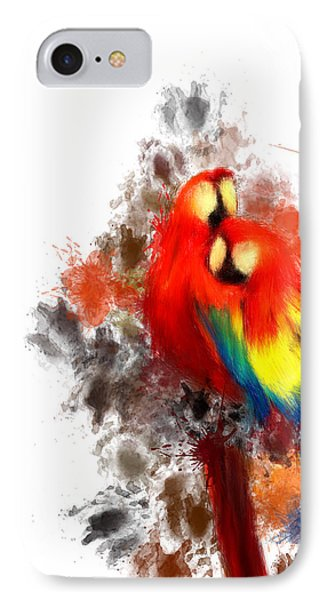 Scarlet Macaw IPhone 7 Case by Lourry Legarde