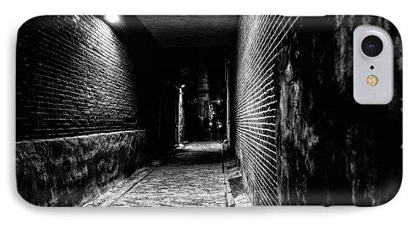 Scary Dark Alley Phone Case by Louis Dallara