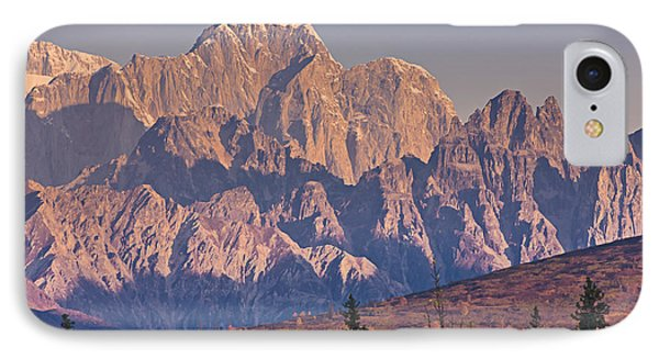Scenic View Of Sunrise On Mooses Tooth IPhone Case by Kevin Smith