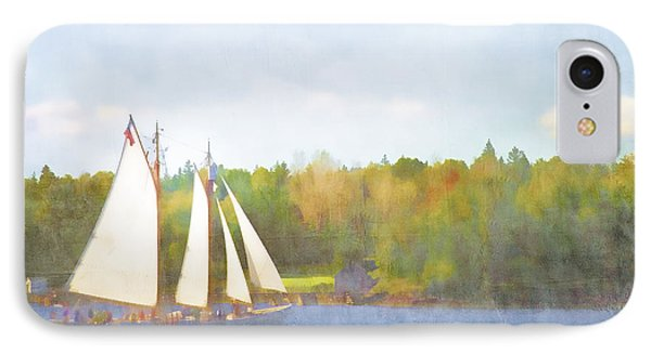 Schooner Castine Harbor Maine Phone Case by Carol Leigh