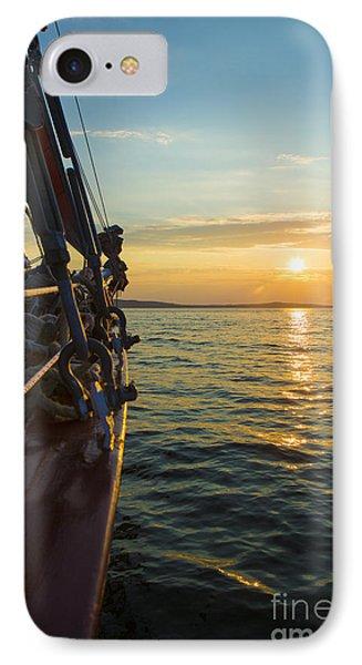 Schooner Sunset IPhone Case by Diane Diederich