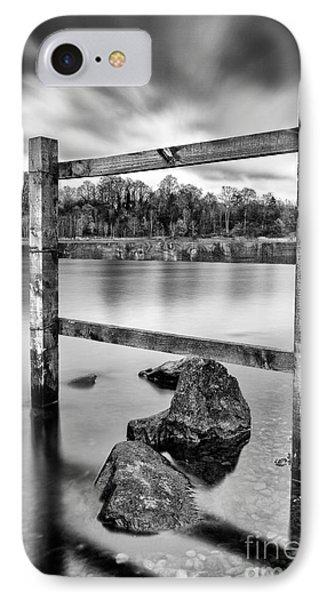 Scottish Loch With Fence Phone Case by John Farnan