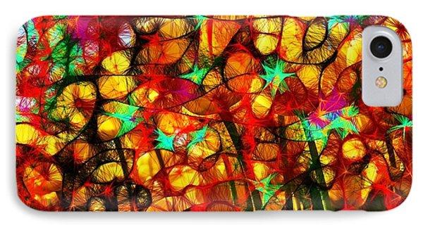 Scribble Flowers Phone Case by Elizabeth McTaggart